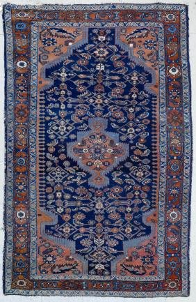 Semi Antique Hamadan Persian Oriental Rug 4'6''x6'10''.