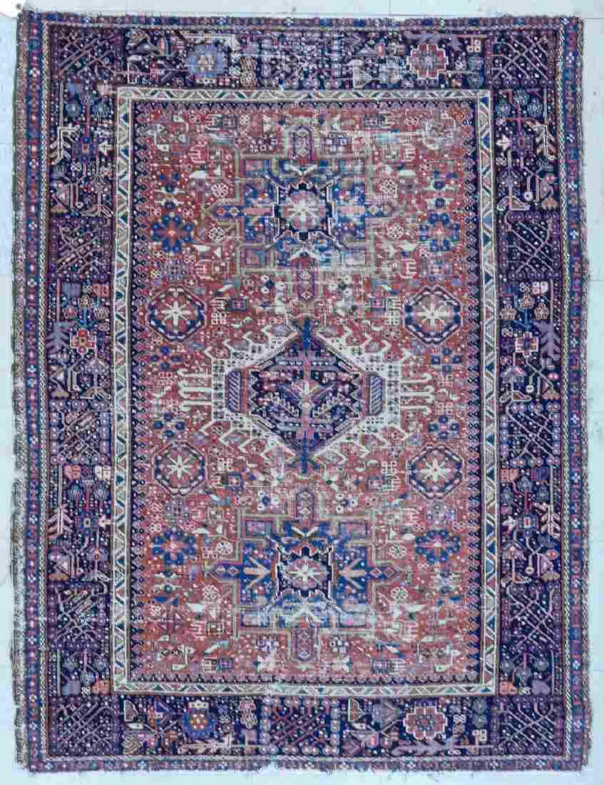 Antique Karaja Persian Oriental Scatter Rug