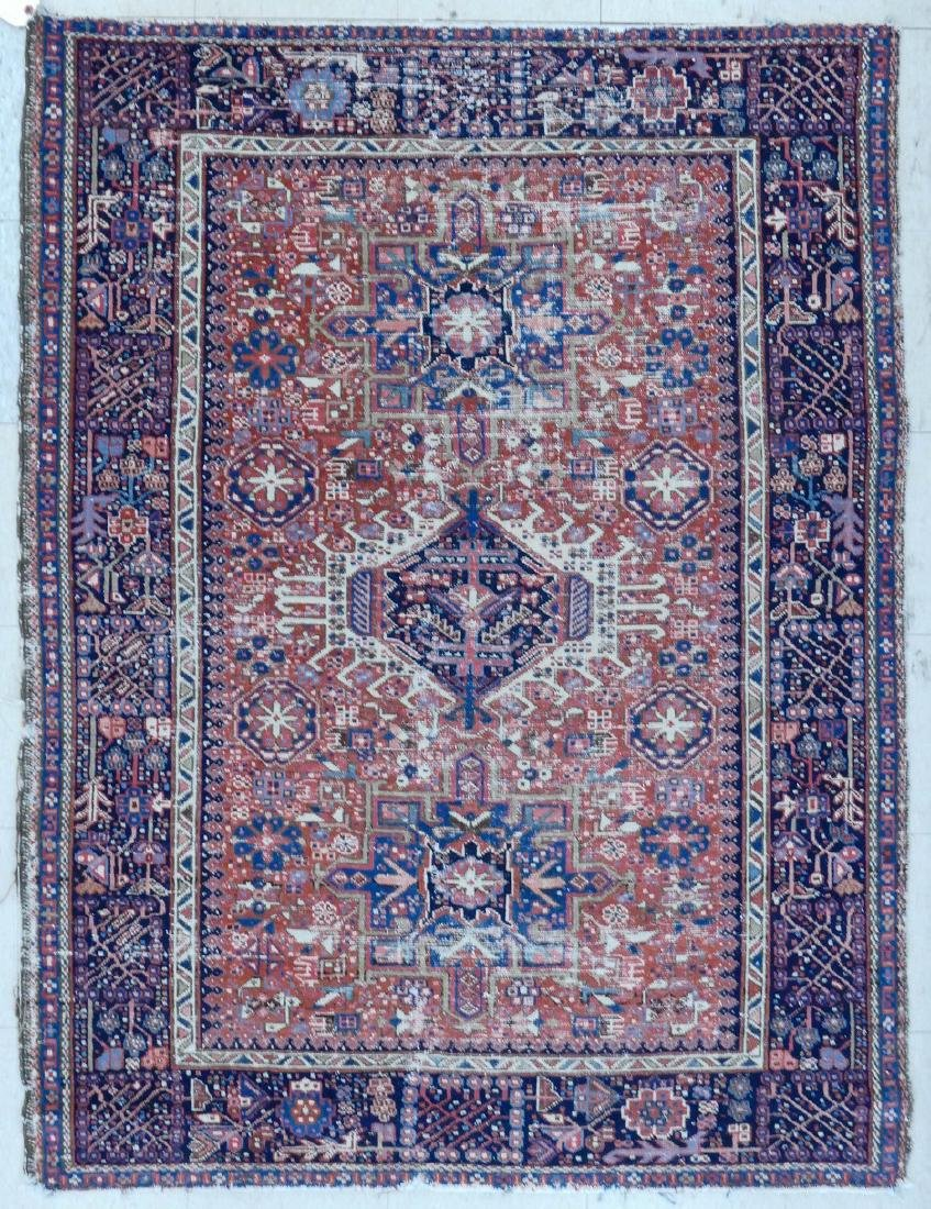 Antique Karaja Persian Oriental Scatter Rug