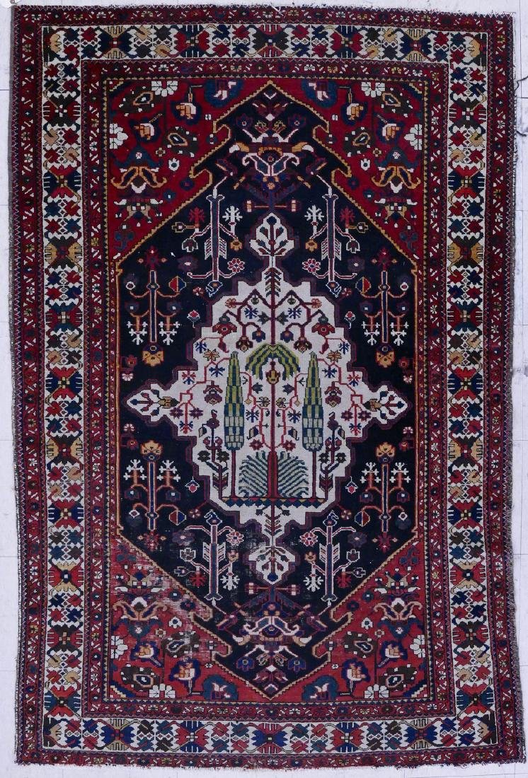 Antique Caucasian Oriental Rug with Tree 4'4''x6'8''.