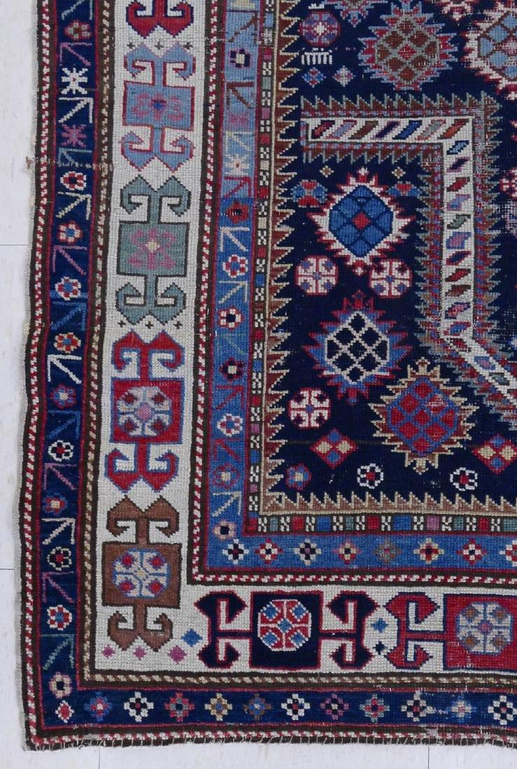 Antique Caucasian Prayer Rug 3'5''x5'. Geometric border - 2