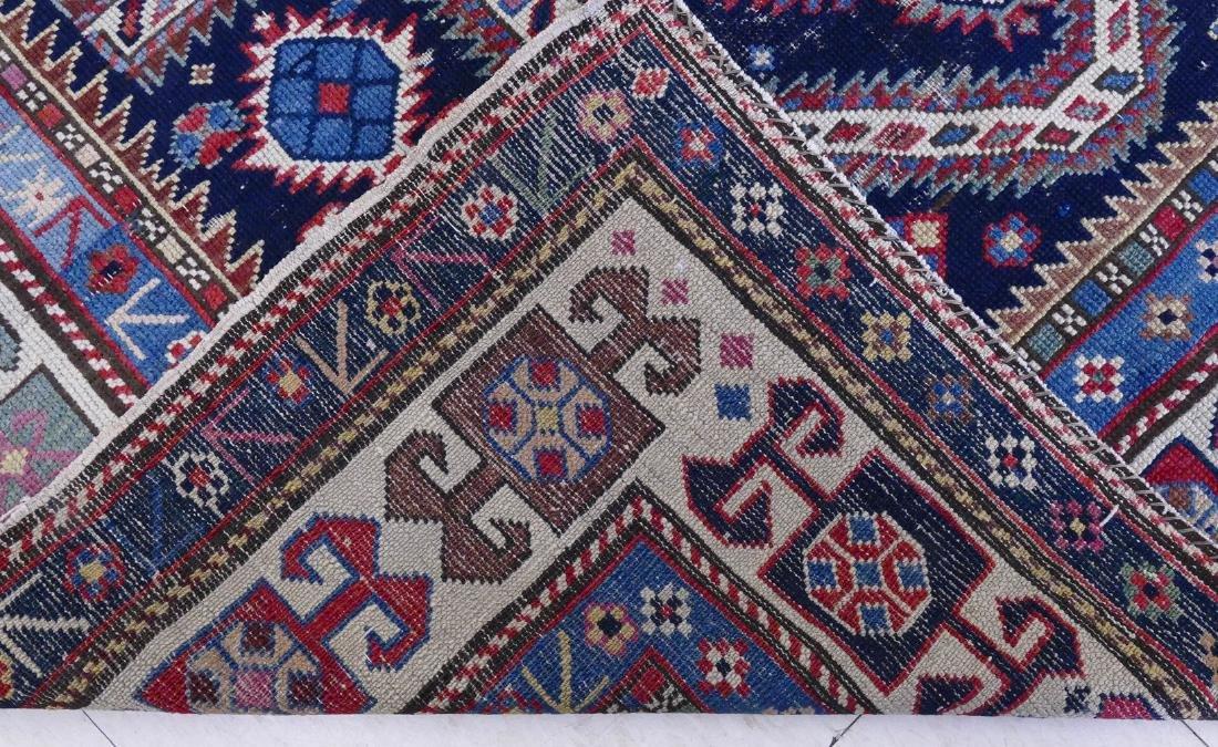 Antique Caucasian Prayer Rug 3'5''x5'. Geometric border - 3