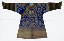 Chinese Imperial Dragon Silk Brocade Robe 52x83