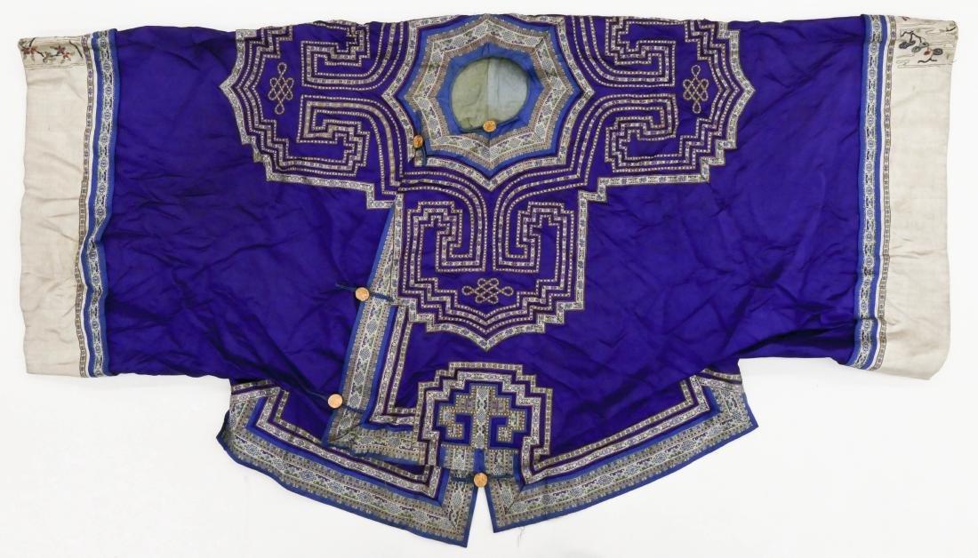 2pc Chinese Mandarin Silk Embroidered Robe & Skirt.