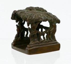 Chinese Bronze Hut Seal 1.5''x1.5''. Figural seal with