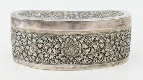 Thai Repousse Sterling Silver Box 2''x5.25''. Intricate