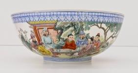 Chinese Egghsell Famille Rose Porcelain Bowl
