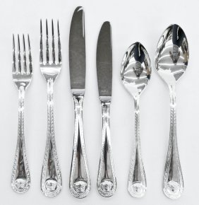 "Versace for Rosenthal ""Medusa"" Silver Flatware Service"