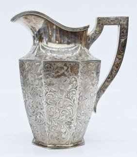 Baltimore Silversmiths Decorated Sterling Pitcher