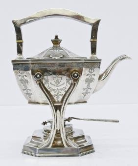 Dominick & Haff ''Queen Anne'' Sterling Teapot On Stand