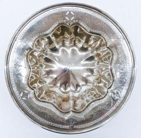American Pierced Sterling Scalloped Bowl 3''x11''.
