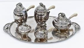 Georg Jensen ''Blossom'' Sterling Tea & Coffee Service.