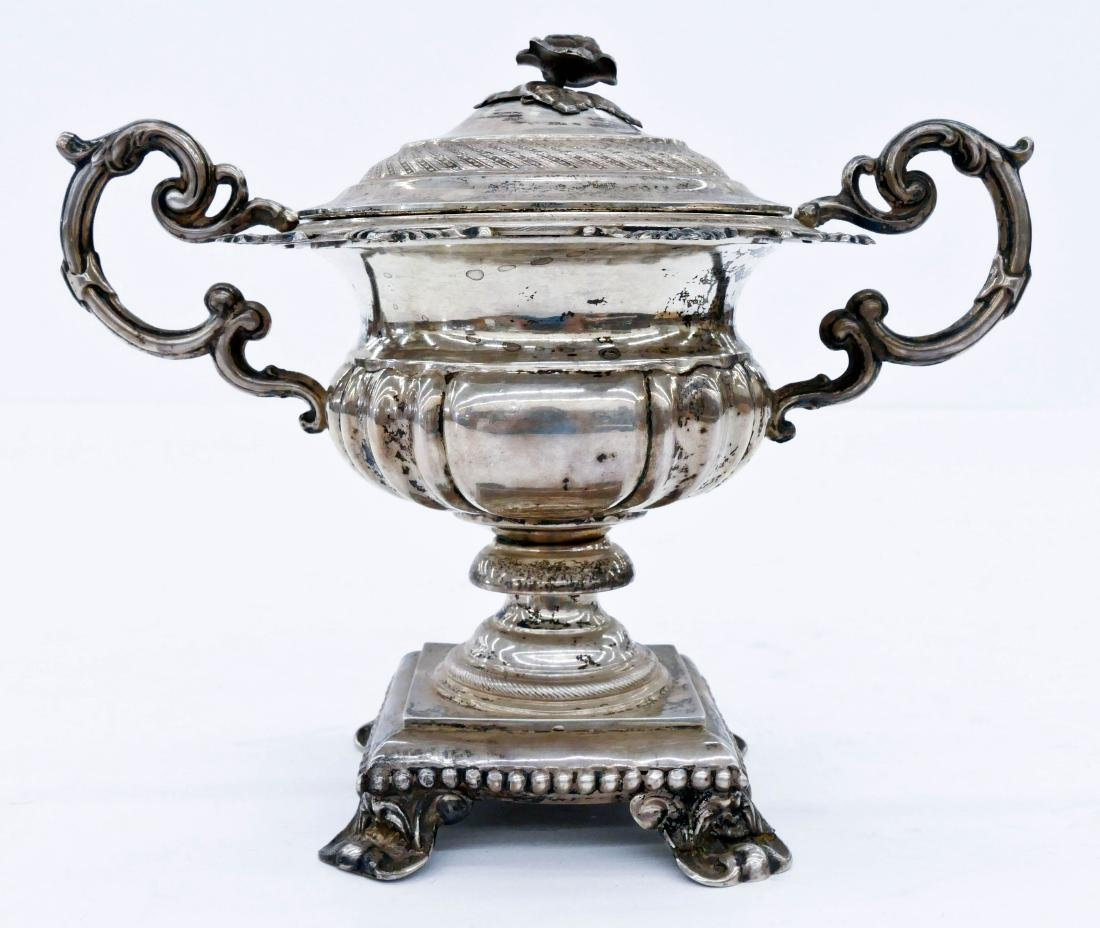 Antique Chinese Silver Loving Cup 6''x8''. A wide