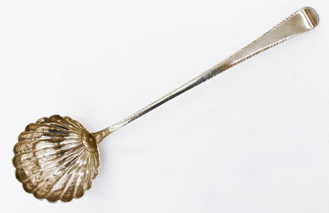 George III Silver Scalloped Punch Ladle by George Smith
