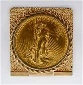 1924 St Gaudens 20 Gold Coin Money Clip