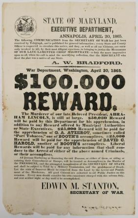 A Rare 1865 Lincoln Assassination Broadside