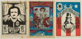 4pc Vintage Rock Concert Posters & Handbill. Includes