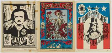 4pc Vintage Rock Concert Posters  Handbill Includes