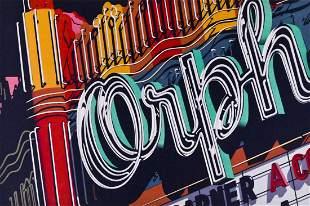 Robert Cottingham (b.1935 American) ''Orpheum'' 1970