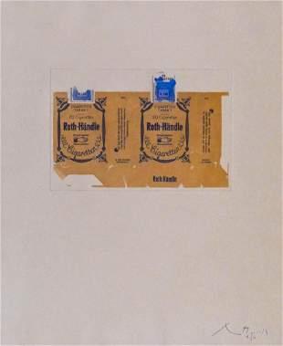 Robert Motherwell ''Roth-Handle II (Ochre)'' 1975