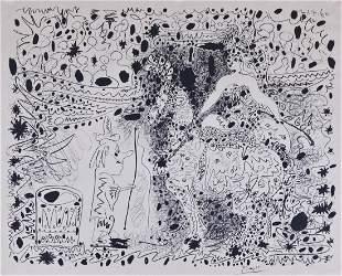 Pablo Picasso (1881-1973 Spanish) ''L'Ecuyere'' 1960