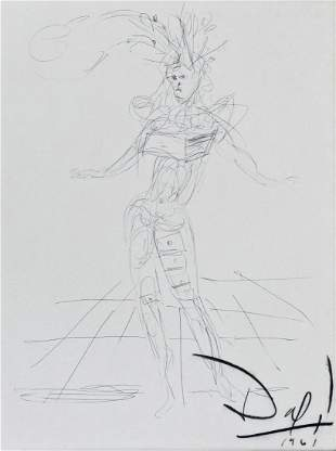 Salvador Dali (1904-1989 Spanish) Untitled Figure with