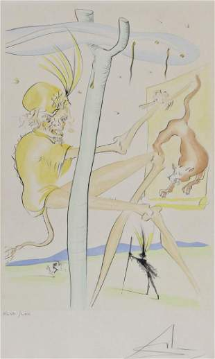 Salvador Dali ''The Monkey and The Leopard'' 1974