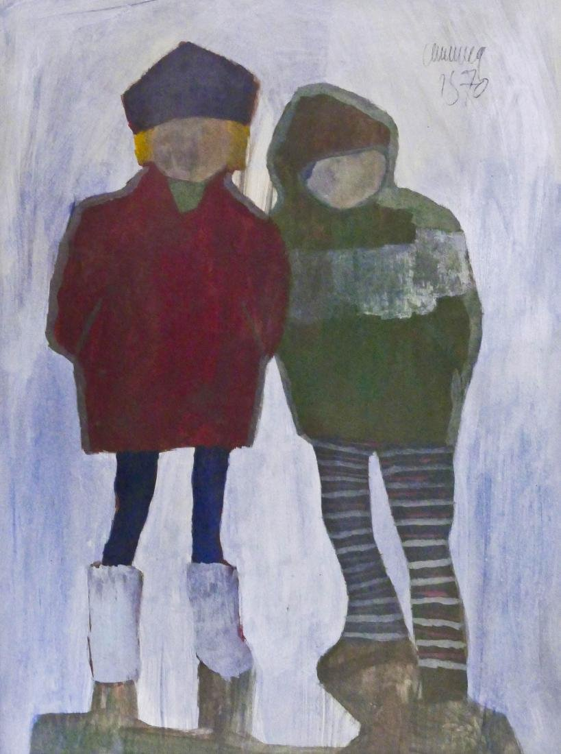 William Cumming (1917-2010 Washington) ''Two Kids''
