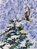 Roy Purcell (b.1936 American) Untitled Winter Hawk 1993