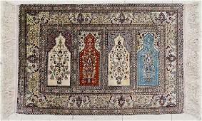 Fine Turkish Kayseri Silk Oriental Rug 24x34 It