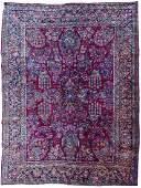 Semi Antique Sarouk Persian Room Size Rug 9'x12'.