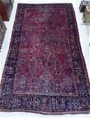 Semi Antique Sarouk Persian Room Size Rug 10'x18'.