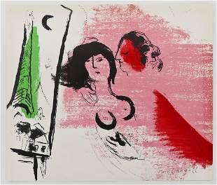 "Marc Chagall (1887-1985 Russian) ""La Tour Eiffel Verte,"