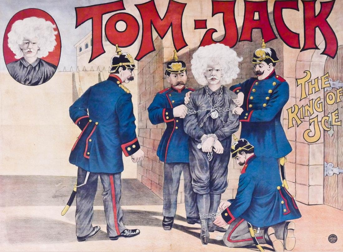 Antique Tom Jack Magician Poster 35''x47'' Sight.