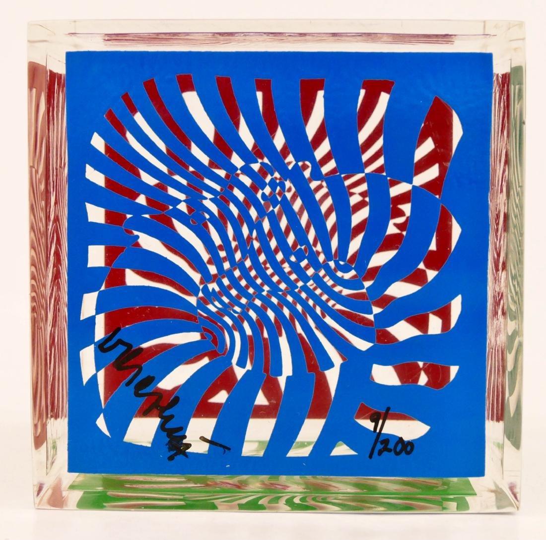 Victor Vasarely (1906-1997 Hungarian) Zebra Cube 1980 - 2