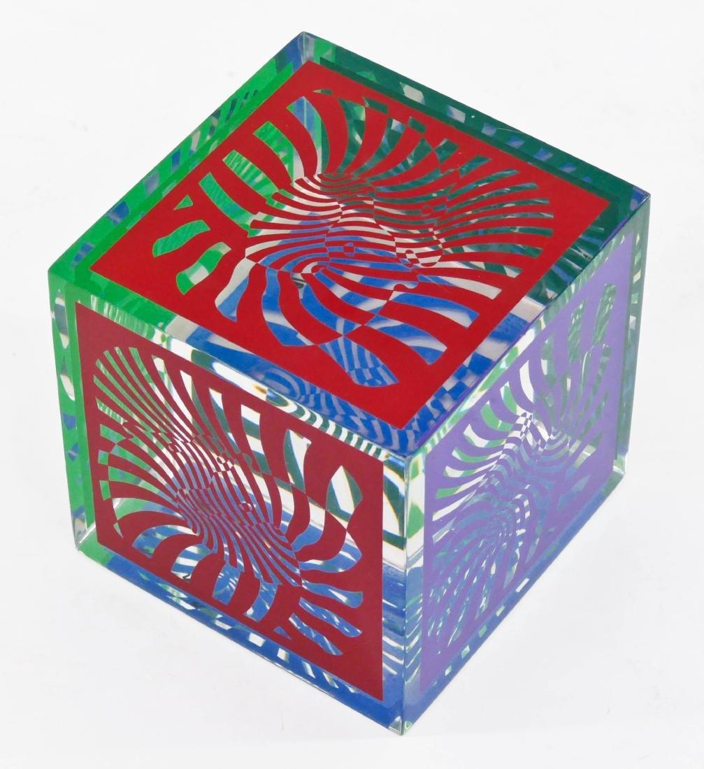 Victor Vasarely (1906-1997 Hungarian) Zebra Cube 1980 - 3