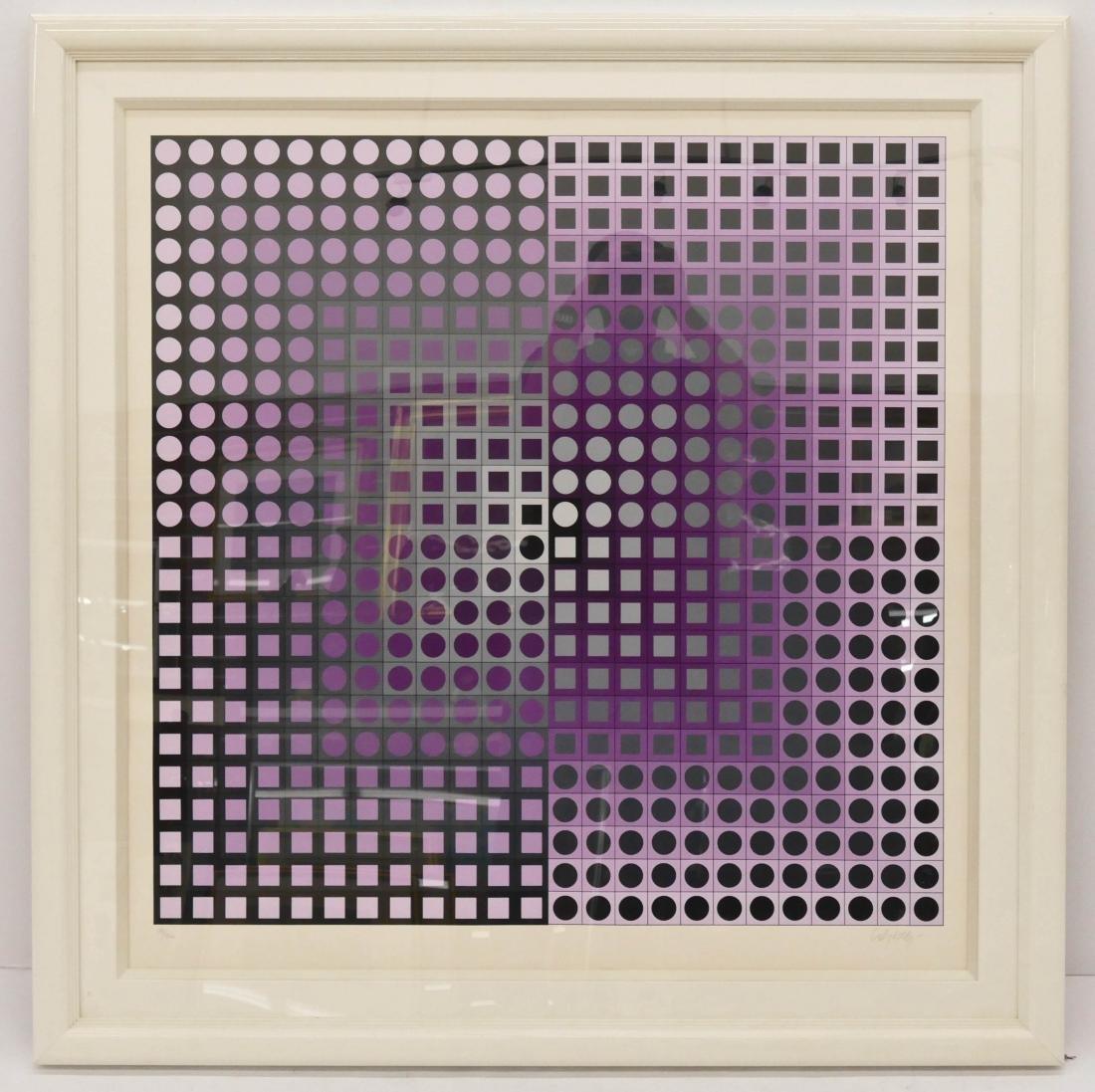 Victor Vasarely ''Zett'' 1989 Diptych Serigraph - 2