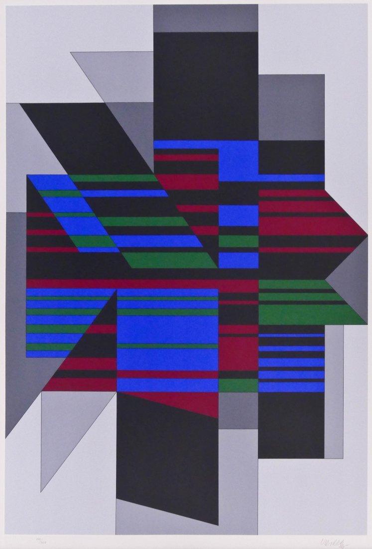 Victor Vasarely ''Attika'' 1990 Serigraph 38''x27''