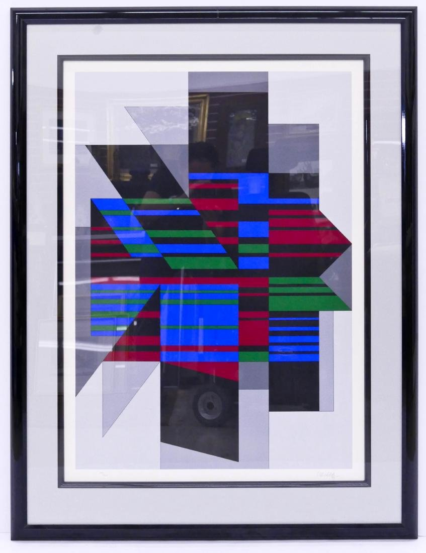 Victor Vasarely ''Attika'' 1990 Serigraph 38''x27'' - 2