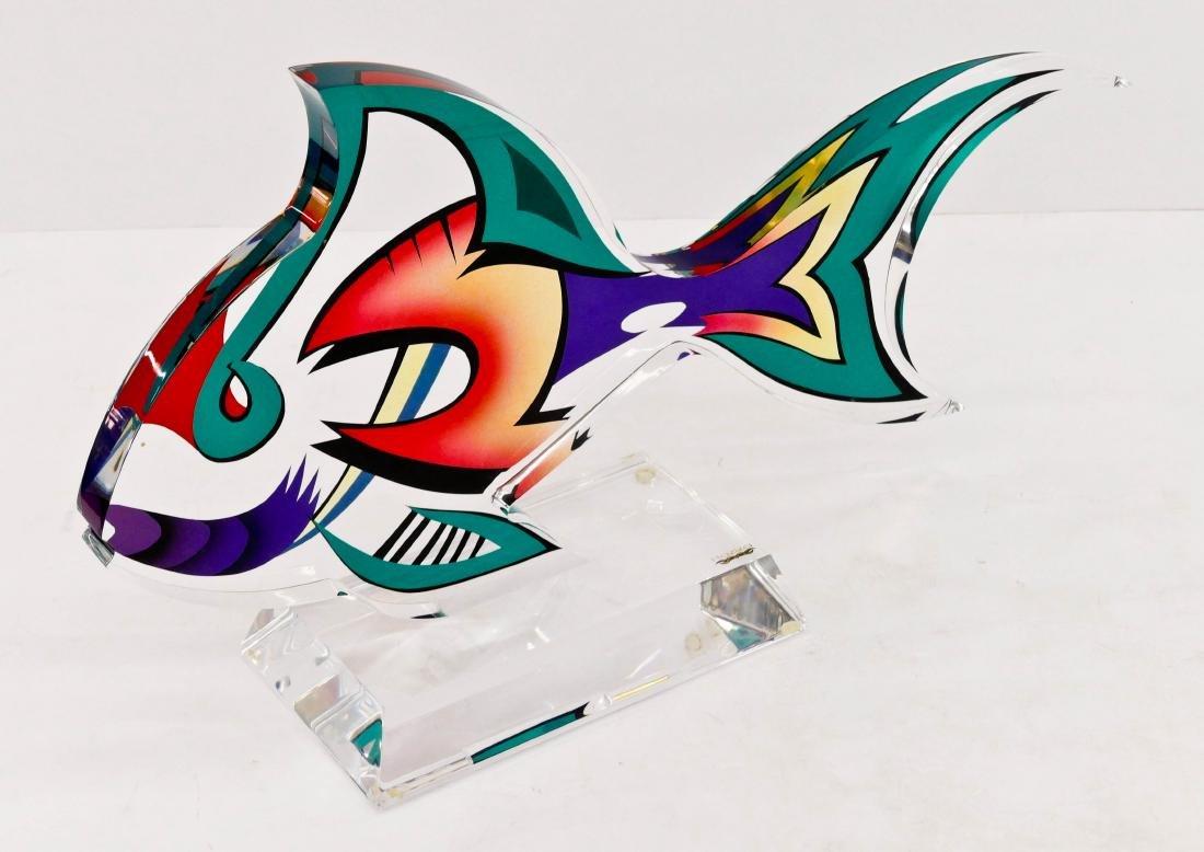 Shlomi Haziza ''Psy-Fish'' Acrylic Sculpture - 2