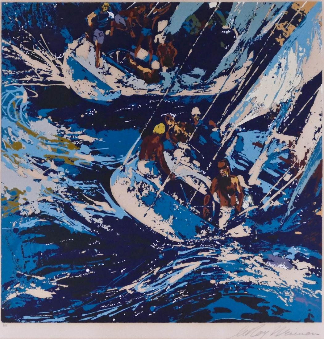 LeRoy Neiman (1921-2012 American) ''Two Twelves'' 1973