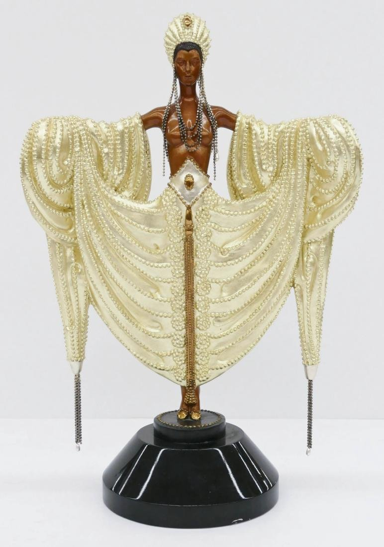 Erte (1892-1990 Russian) ''Radiance'' 1988 Patinated