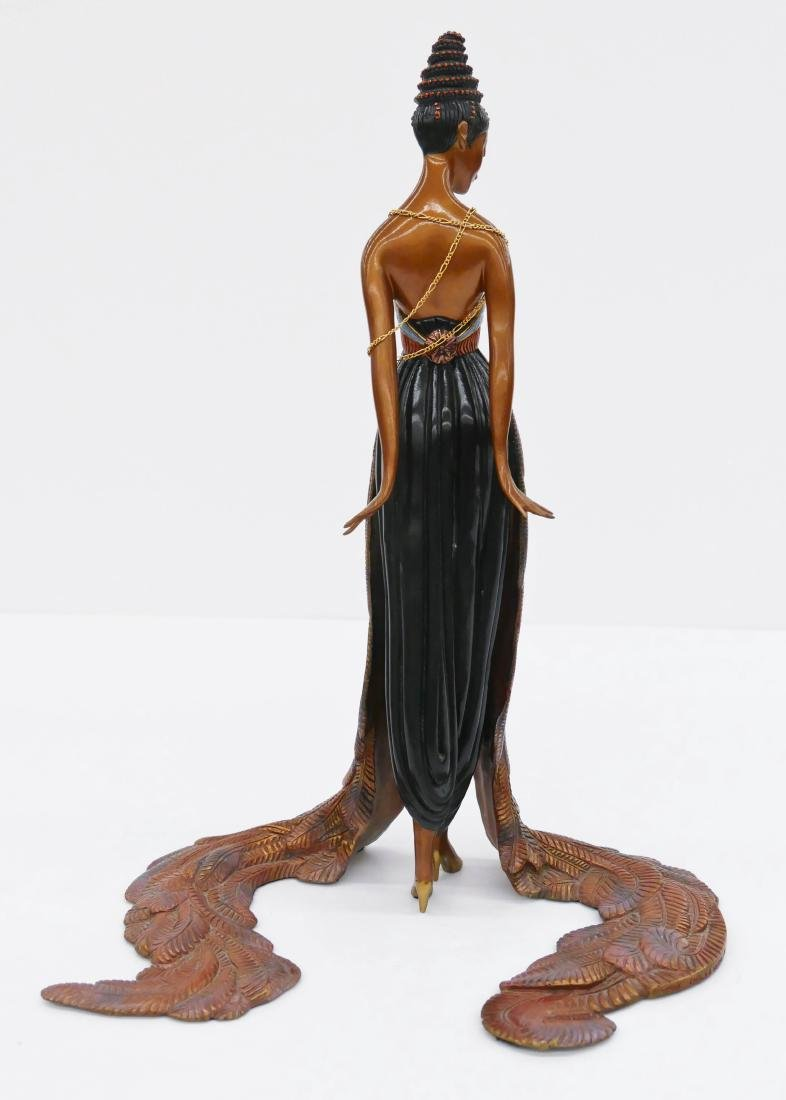 Erte (1892-1990 Russian) ''Feather Gown'' 1990 - 2