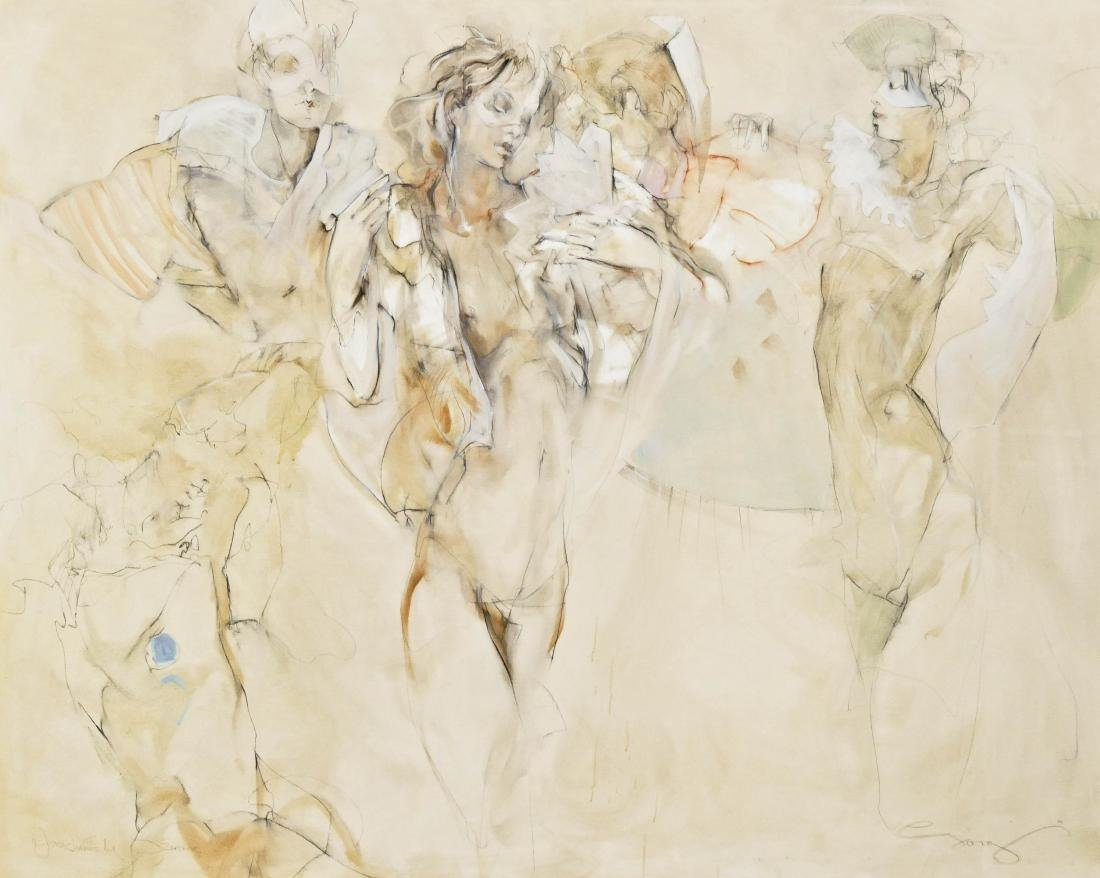 Jurgen Gorg (b.1951 German) ''Couple and Puzzle'' 1986