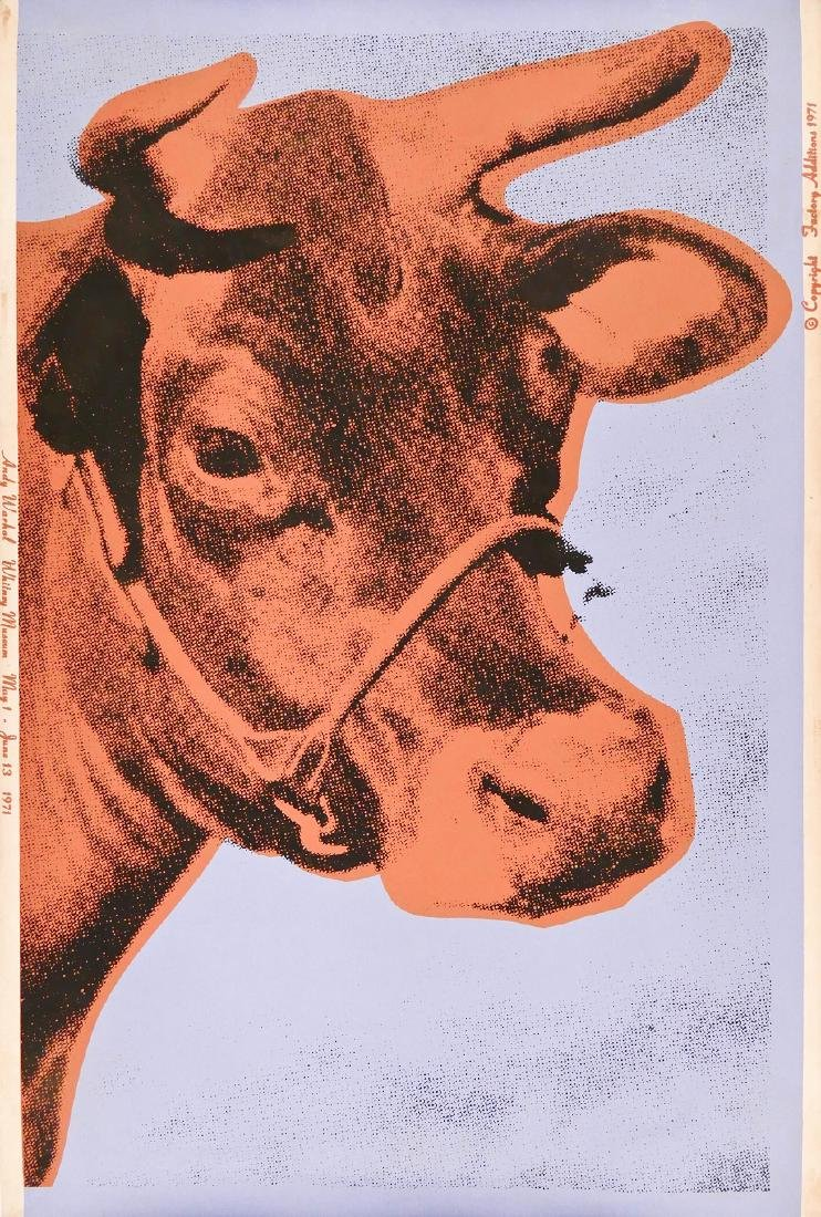 Andy Warhol (1928-1987 American) ''Cow 11A'' 1971