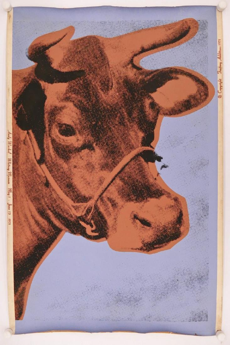 Andy Warhol (1928-1987 American) ''Cow 11A'' 1971 - 2