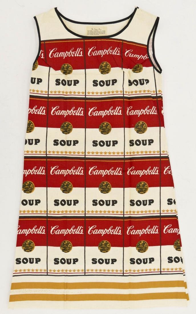 Andy Warhol ''The Souper Dress'' 1965 Screenprint on