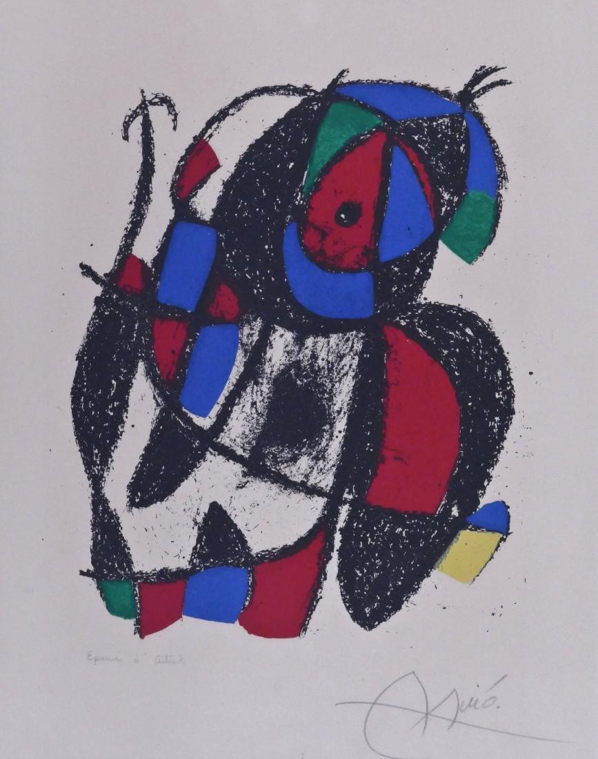 Joan Miro (1893-1983 Spanish) ''Lithographe II, Plate