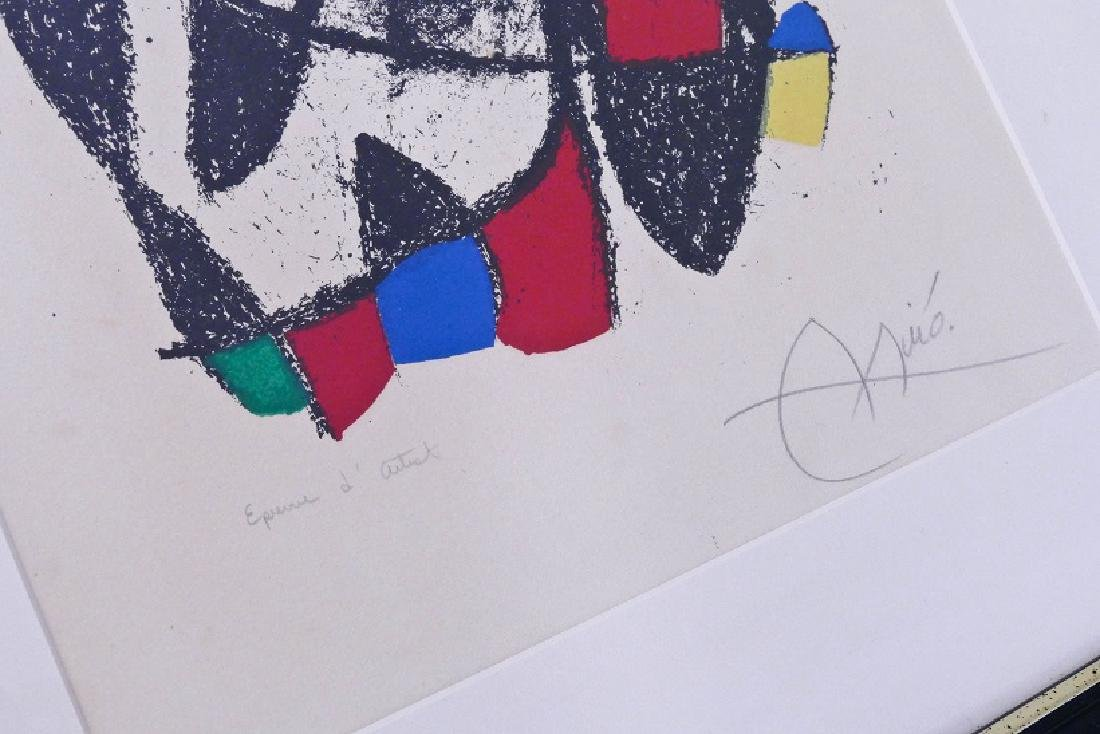 Joan Miro (1893-1983 Spanish) ''Lithographe II, Plate - 3