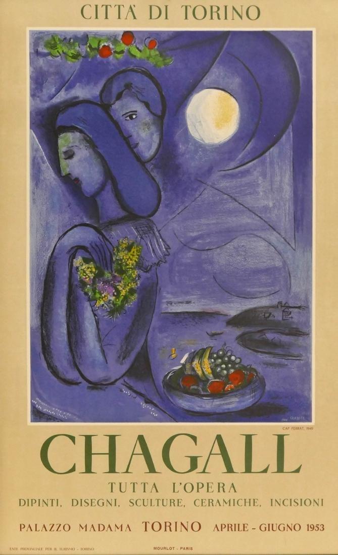 Marc Chagall ''Tutta L'Opera'' 1953 Exhibition Poster